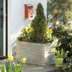 Same container, diff arrangements for all seasons......Get Seasonal Color with Containers: Spring