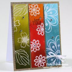 How-to video: Use your scraps — Lily Pad Cards - Distriess Inks - GREENS: Shabby Shutters,crushed olive,forest moss     ORANGE/REDS: spiced marmalade, barn door, fired brick     BLUES: tumbled glass, broken china, faded jeans