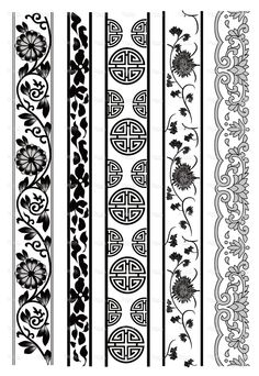 Old lace pattern Pattern Drawing, Pattern Art, Pattern Design, Border Pattern, Border Design, Chinese Ornament, Chinese Patterns, Oriental Pattern, Ornaments Design