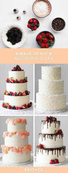 4 Easy Ways to DIY a Wedding Cake