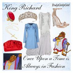 """Disney Style: King Richard"" by trulygirlygirl ❤ liked on Polyvore featuring mode, O.SA, Miu Miu, Valentino, MANGO, disney, king richard et robin hood"