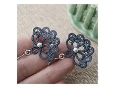 Lace Earring, Gray Carmen. $18.00