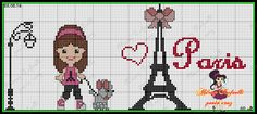 PARIS Cross Stitch Family, Cross Stitch Baby, Loom Patterns, Cross Stitch Patterns, I Love Paris, Loom Beading, Plastic Canvas, Diy And Crafts, Embroidery