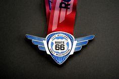 The 2012 Williams Route 66 Half Marathon Finisher Medal.