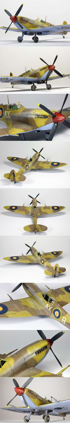 Tamiya Spitfire MkIXc in the markings of SAAF Lt Eric Robinson. http://www.network54.com/Forum/47751/message/1420148940/Spitfire+SAAF+Tamiya+1-32
