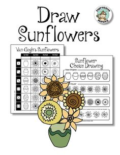 Van Gogh's Sunflowers Integrated Art Lesson - Learn about Vincent van Gogh and then make your own sunflower drawing.