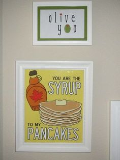 You are the syrup to my pancakes, LOVE! Click thru for more free kitchen printables.