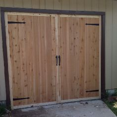 Directly. was shed type swinging doors for garage absolutely not