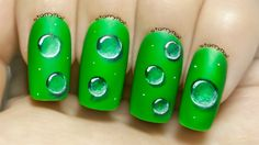 Water Droplets ⎮ Freehand Nail Art Tutorial