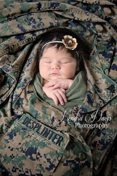 Marine Corps/Military newborn By Photographer: Kendra Davis Awesome Picture hun!!!!