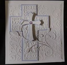 CROSS-OF-CHRIST-embossing-folder-Easter-Baptism-Sympathy-BEAUTIFUL-Stampin-Up