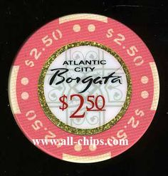 #AtlanticCityCasinoChip of the day is a $2.50 Borgata Textured chip you can get here http://www.all-chips.com/ChipDetail.php?ChipID=17087 #CasinoChip #Borgata