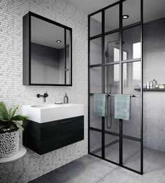 Bathroom some ideas, master bathroom renovation, bathroom decor and bathroom organization! Master Bathrooms could be beautiful too! From claw-foot tubs to shiny fixtures, these are the master bathroom that inspire me the essential. Bad Inspiration, Bathroom Inspiration, Bathroom Ideas, Bathroom Layout, Hallway Inspiration, Tile Layout, Modern Bathroom Design, Bathroom Interior Design, Minimal Bathroom