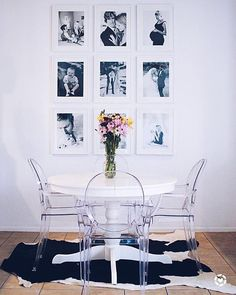 """1,895 Likes, 13 Comments - #LTKhome (@liketoknow.it.home) on Instagram: """"Chic up your dining area with sleek seating and a black and white take on your portrait gallery…"""""""