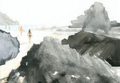 Hobby Painting I., gouache on paper