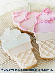 Ice cream cone (cake cone) sugar cookies