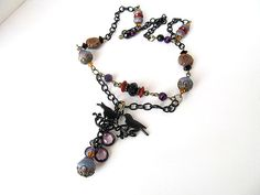 Twilight Necklace Bohemian Jewelry Lovebirds by moonlilydesigns