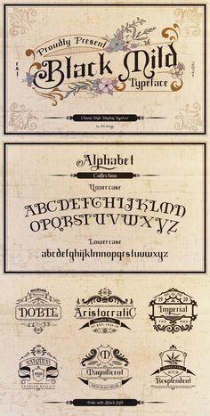 Black Mild Typeface #display #branding #font