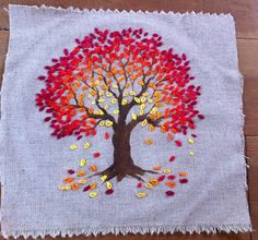 tree embroidery for a regretsy charity fundraiser tree looks like it's glowing inside how to learn hand embroidery stitches Explore jocafa's photos on Fli Embroidery Works, Hand Embroidery Stitches, Silk Ribbon Embroidery, Crewel Embroidery, Hand Embroidery Designs, Embroidery Techniques, Cross Stitch Embroidery, Machine Embroidery, Embroidery Ideas