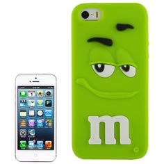 Coque Silicone M&M's pour iPhone 5/5S - Vert