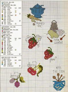 ♥Meus Gráficos De Ponto Cruz♥: Cozinha: Frutinhas e Legumes em Ponto Cruz