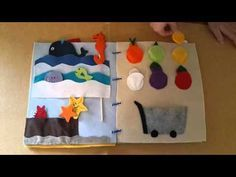 Quiet book - libri sensoriali - giochi educativi per bambini - Laura Del Frate - YouTube Quiet Book Tutorial, Montessori Baby, Kindergarten Activities, Paper Flowers, Diy And Crafts, Kids Rugs, Creative, Handmade, Youtube