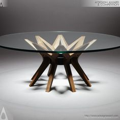 Y table by Reda Amalou - A' Design Award & Competition geometric table base design