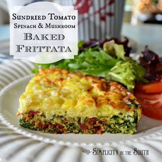 sundried tomato spinach mushroom baked frittata