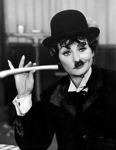 Lucille Ball as Charlie Chaplin.