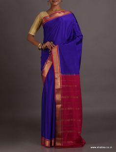 Madhumati Charming Contrast Traditional #MysoreSilkSaree