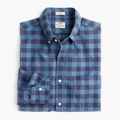 J.Crew - American Pima cotton oxford shirt in blue buffalo check