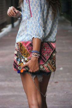 Love that hippie clutch!