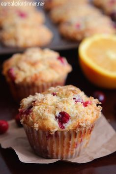 Orange Cranberry Muffins | Eat Cake For Dinner | Bloglovin'
