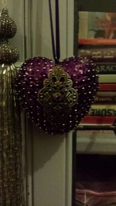 Polystyrene sequin bauble with moroccan embellishment