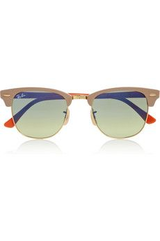 Ray-Ban Clubmaster half-frame sunglasses. So different from the typical black.