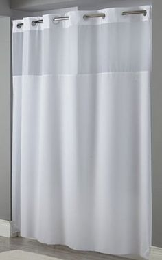 Hookless Mystery White Shower Curtain Focus Products Group: has magnets? with or without liner?