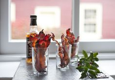 Whiskey Spiked Maple Bacon: You're just four ingredients away from enjoying one of the best snacks of your life.