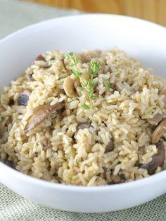 Mushroom Rice Pilaf | vegan, low-fat, salt-free