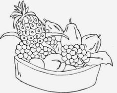 fruit basket pictures for kids colour drawing hd wallpaper - Pics To Colour In