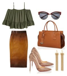 """gipsy chic"" by natalia-souza-ramos on Polyvore featuring Christian Louboutin, Tod's, River Island and Chloé"