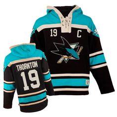 Authentic Joe Thornton Teal Black Men s NHL Jersey   19 San Jose Sharks Old 0f861f936e1
