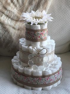 A personal favorite from my Etsy shop https://www.etsy.com/listing/492396725/3-tier-vintage-rose-diaper-cake
