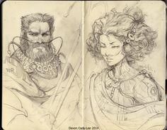 gorrem: Chani and Stilgar - by Gorrem Sketchbook skans. A couple of my favorite Fremen.