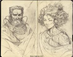 gorrem: Chani and Stilgar - by Gorrem Sketchbook skans. A couple of my favorite Fremen.
