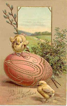 Best Easter Wishes Paul Finkenrath of Berlin 1907 vintage Post Card