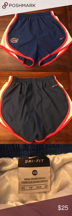 University of Florida Nike Dri-Fit shorts University of Florida Nike women's Dri-Fit workout/running shorts. EUC. No stains or tears. Worn a few times only and air dried. Nike Shorts