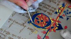 a calligrapher who specializes in reproductions of medieval manuscripts. The videos are a how to guide for creating your own manuscript. C