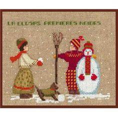 Kit Bonhomme de neige 2325 Le Bonheur des Dames chez Univers Broderie