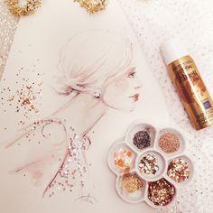 Paper Fashion blog - illustrator, Katie Rodgers, draws high fashion and creates visual stories
