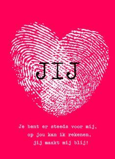 Valentijnskaart - Jij liefdesgedicht